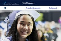 Screenshot of department website